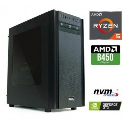 Računalnik  MEGA 6000X Ryzen 5-3600X/8GB/SSD250GB-NVMe/2TB/GTX1660-SUPER-6GB/Brez OS