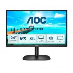 """Monitor AOC 60,5 cm (23,8"""") 24B2XDA 1920x1080 Gaming 75Hz IPS 4ms DVI HDMI zvočniki 3H AdaptiveSysnc"""
