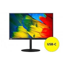 """Monitor Lenovo 60,5 cm (23,8"""") T24m-10 1920x1080 IPS 4ms VGA HDMI DisplayPort USB-C 1/4xUSB3,0 Pivot sRGB 99%"""